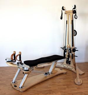 Der Gyrotoner ist ein spezielles Trainingsgerät für Gyrotonic